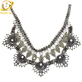 Multilayer Statement Necklace Choker Simulated Pearl Stone Necklaces & Pendants Women Chunky Chain Short Party Jewelry