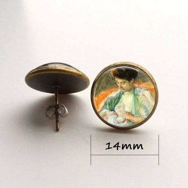 bronze earring 14mm