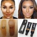 Marca Cara Base Maquillaje Cubierta Corrector Líquido Fundación Prefecto Para La Piel Oscura Face Contour Maquillaje Fundación maquiagens