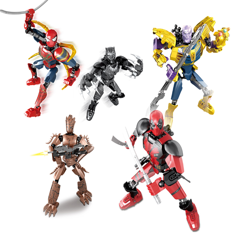 5 Styles Movies Avengers 4 Thanos Groot Spiderman Black