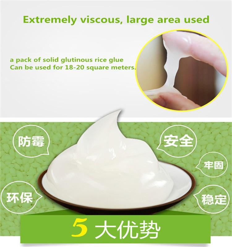 Natural solid glutinous rice flour mixed water using environmentally friendly wallpaper special glue repair