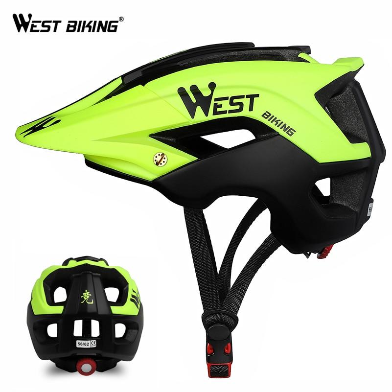 WEST BIKING MTB Helmet Cycling Men Women Ultralight Road Bike Helmet EPS Safety Casco Ciclismo Vents Breathable Helmet 56-62cm