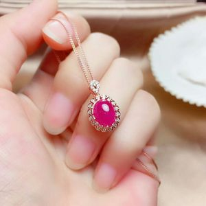 Image 3 - MeiBaPJ Natural Myanmar Ruby Gemstone 925 Pure Silver Earrings Ring Pendant Necklace 3 Suits Fine Wedding Jewelry Sets for Women