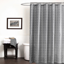 70x72inch Gray Shower Curtain Polyester Geometric Printed Waterproof Bathroom Curtains Home Hotel Bath Products High Quality