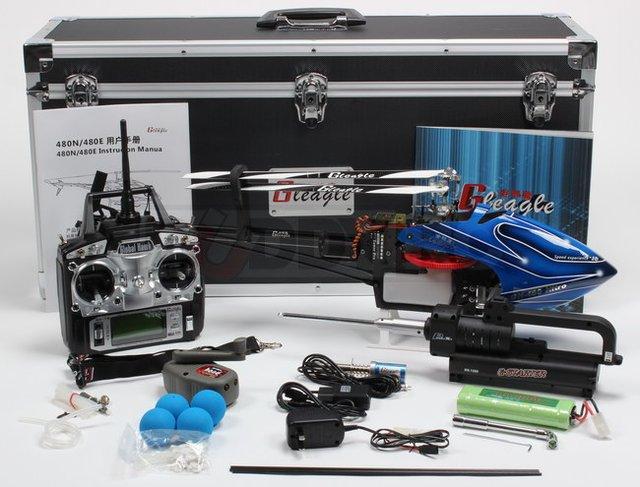 Gleagle 480N 2.4G 6CH RC Fuel Nitro Helicopter RTF/RTF Version with Aluminum Case
