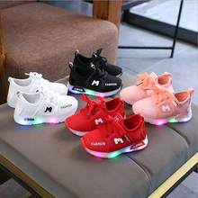 New Children Luminous Shoes Boys Girls Sport Running Shoes Baby Flashing Lights Fashion Sneakers Toddler Little Kid LED Sneakers(China)
