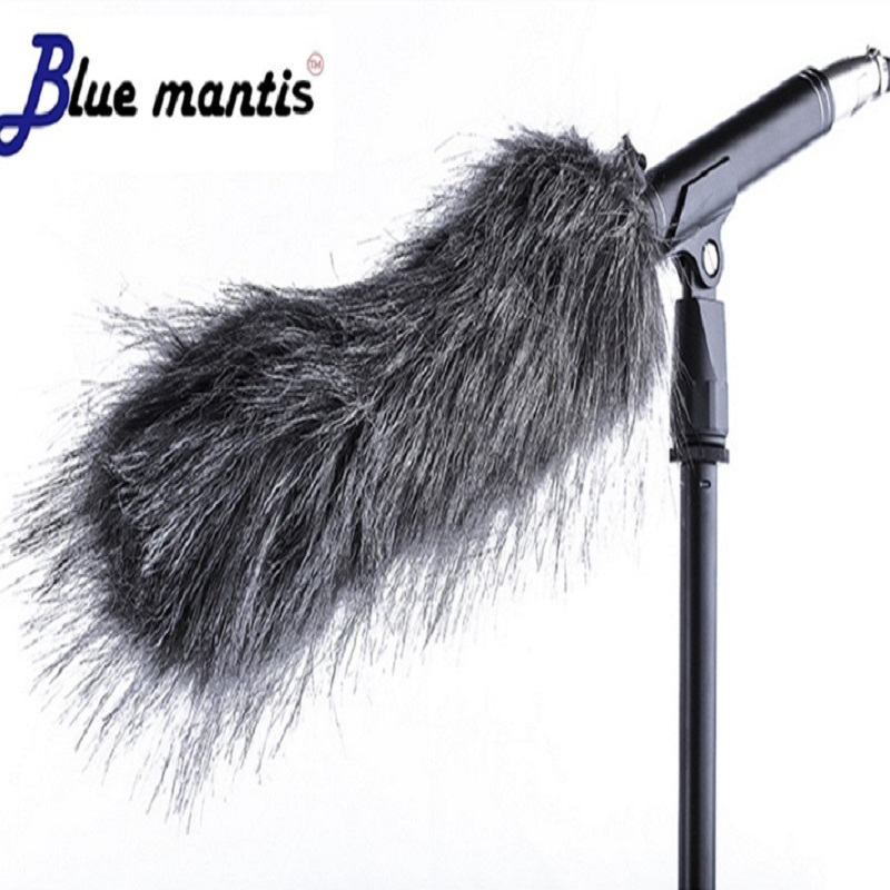 Dead Cat Outdoor Windproof Artifical Fur Windscreen Shield For Microphone Cover Microphone Wind Hair 18cm  Blue Mantis Brand