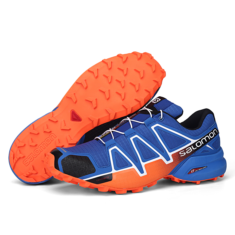 Scarpe Da Uomo Salomon Velocità Croce 4 CS di Alta Qualità scarpe da tennis Degli Uomini Cross-country Scarpe Speedcross 4 Scarpe Da Jogging Runningg Scarpe