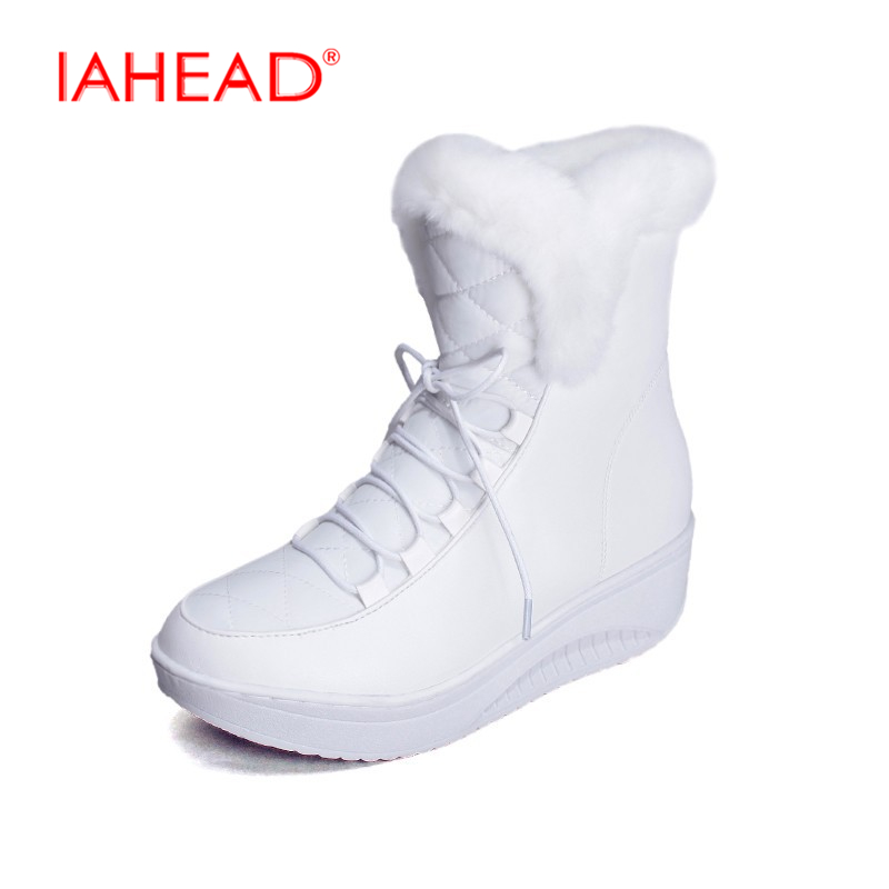 Shoes Women Boots Solid Slip-On Soft Cute Women Snow Boots Round Toe Flat with Winter Fur Ankle Boots chuteira UPA333 cute women winter snow boots slip on soft fur warm shoes candy color ankle boots woman round toe solid flat biker boots