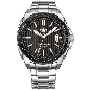 YELANG v1001 mens self luminous sapphire mirror 316L stainless steel strap kinetic movement business watches