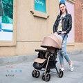 Горячая 2016 Новый Ультра-легкий портативный зонтик детская коляска может сидеть может лежать детские коляски детские тележки складные коробки детей