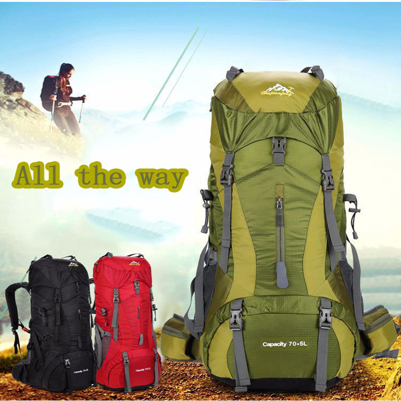 70L Outdoor Camping Climbing Bags Waterproof Hiking Mountaineer Travel Pack Military Army Tactical High Capacity Backpack Travel 2016 large men waterproof military tactical molle laptop backpack canvas 15 6 17 outdoor mountaineer camping hiking travel