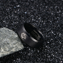 World of warcraft horda alianza negro anillo de oro regalo de la joyería anillo de acero titanium
