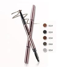 Фотография HOLD LIVE Double Use Long Lasting Liquid Eyeliner Eyebrow Coffee Eyebrow Pencil Make Up Waterproof Tool For Eye Makeup Brown