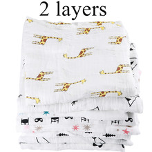 [simfamily] 1Pc Muslin 100% Cotton Baby Swaddles Soft Newborn Blankets Black White Gauze infant wrap sleepsack swaddleme manta