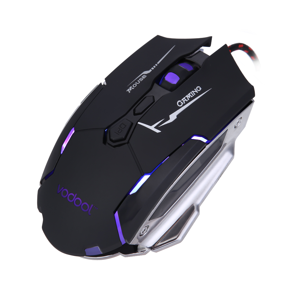 7 Buttons 800DPI 1200DPI 2400DPI Led Lights Optical Wired USB Gaming ...