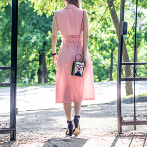 Image 4 - Boutique De FGG Women Fashion Totes Handbags White Acrylic Evening Purse Glasses Girls Chain Clutch Vintage Party Crossbody Bag