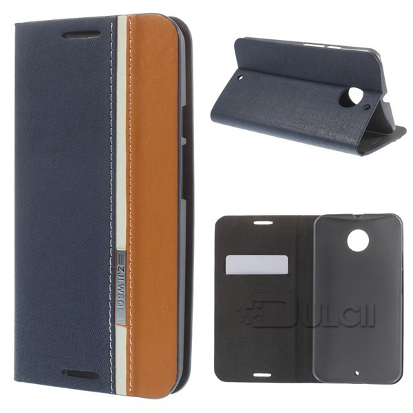 For Moto X2 Case High Quality Two-color Flip Leather Stand Case Cover for Motorola Moto X2 XT1097 <font><b>X</b></font>+<font><b>1</b></font>