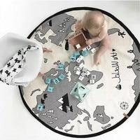 Elliptical Diameter 135CM Play Mat Maps Crawling Blanket Infant Game Pad Play Rug Floor Carpet Baby Gym Activity Room Decor