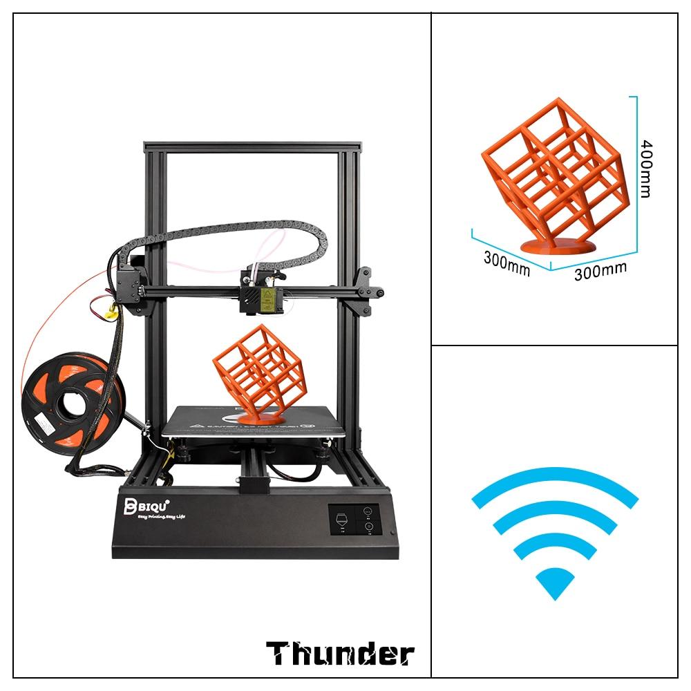 цена 2018 BIQU Thunder 3D Printer Metal i3 Large Size Touch Screen Mk8 CR-10S Extruder 3D Impresora Drucker Parts Desktop 3D Printer