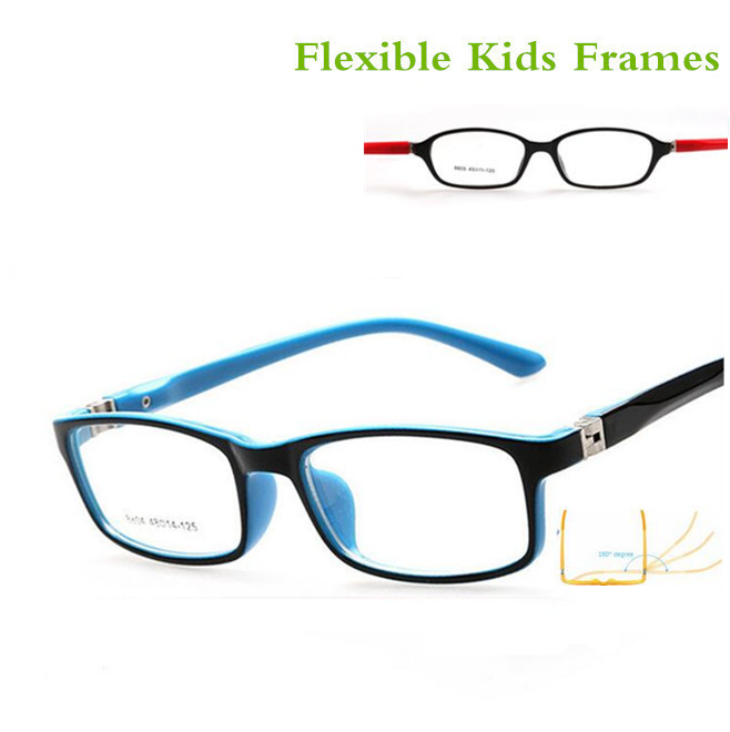 Optical Glasses Frame For Children Boy Girls Myopia Eyeglasses Frames With 0 Degree Lenses Plain Mirror Points Kids Unisex 8804