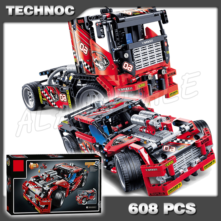608pcs 3360 2in1 Technic Limited Edition Set Race Truck Model Building Blocks Bricks Boys Toys Compatible with <font><b>Lego</b></font> image