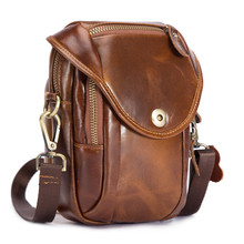 Daffdoil Handmade Genuine Leather Waist Bag Men Women Original Design Gift Crazy Horse Skin P20