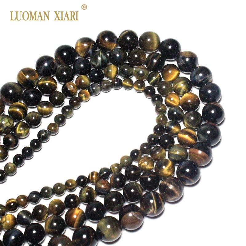 "Naturel 10 mm Jaune Tiger/'s Eye Stone Round Gemstone Beads Necklace 18/"" AAA"