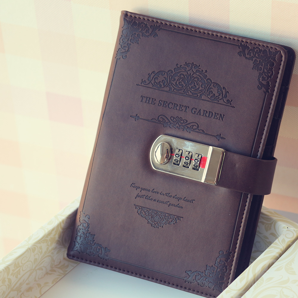 2020 Retro Vintage Notebook Password Book Planner Office Lady Privacy Van Gogh Code Book Protection Stationery