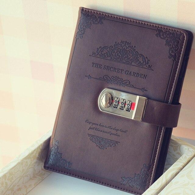 2020 Retro Vintage dizüstü şifre kitap planlayıcısı ofis Lady gizlilik Van Gogh kod kitap koruma kırtasiye