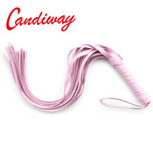 pink Leather Sex Products Spanking flirt whip Paddle Sex Toys BDSM sex games for married couples femdom sm appliance riding crop(China)