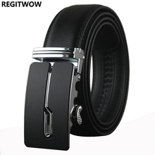 REGITWOW Belt designer automatic buckle Cowhide Leather men luxury fashion Man business belts for men