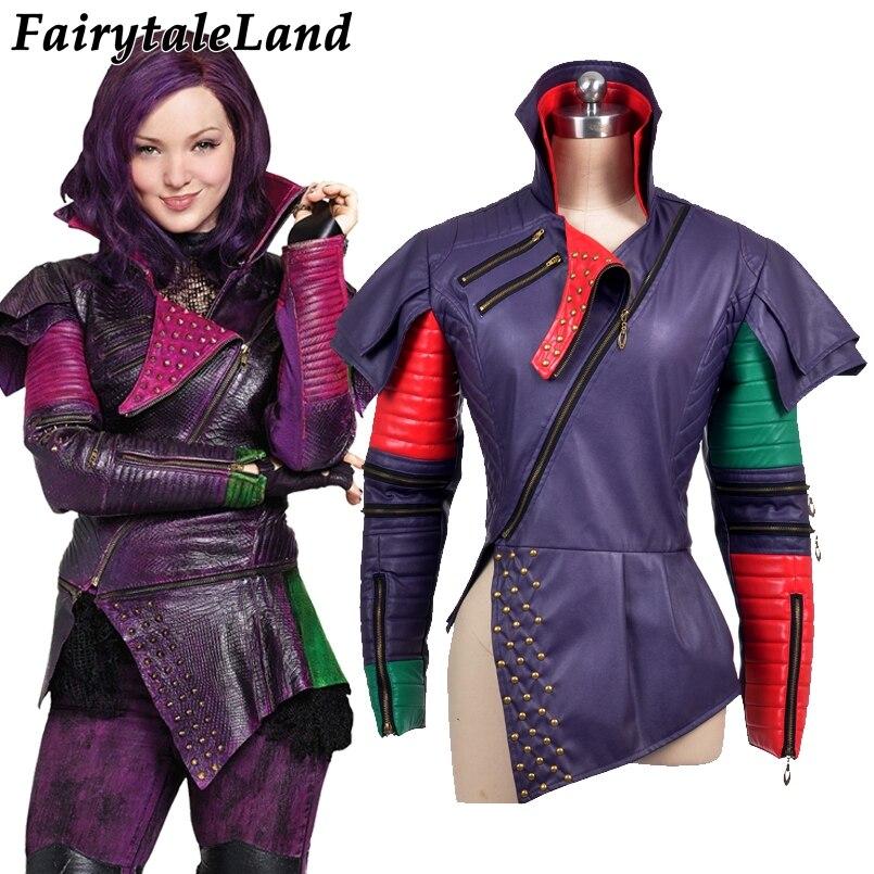 Newest Women Leather Jacket Descendants Cosplay Costume