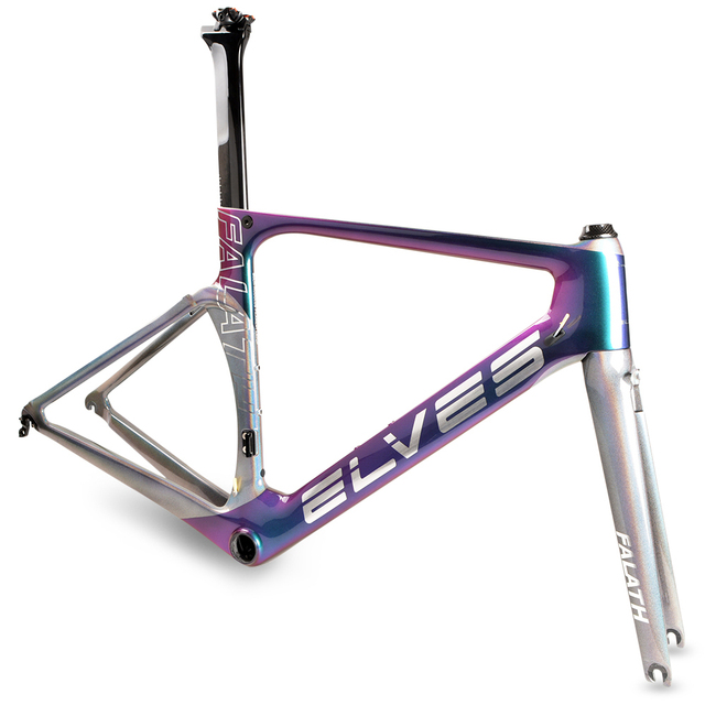 elves aerodynamics Bicycle Frame Light-sensitive color Carbon Road Bike Frame Super Light carbon  road Frame+Fork+headset