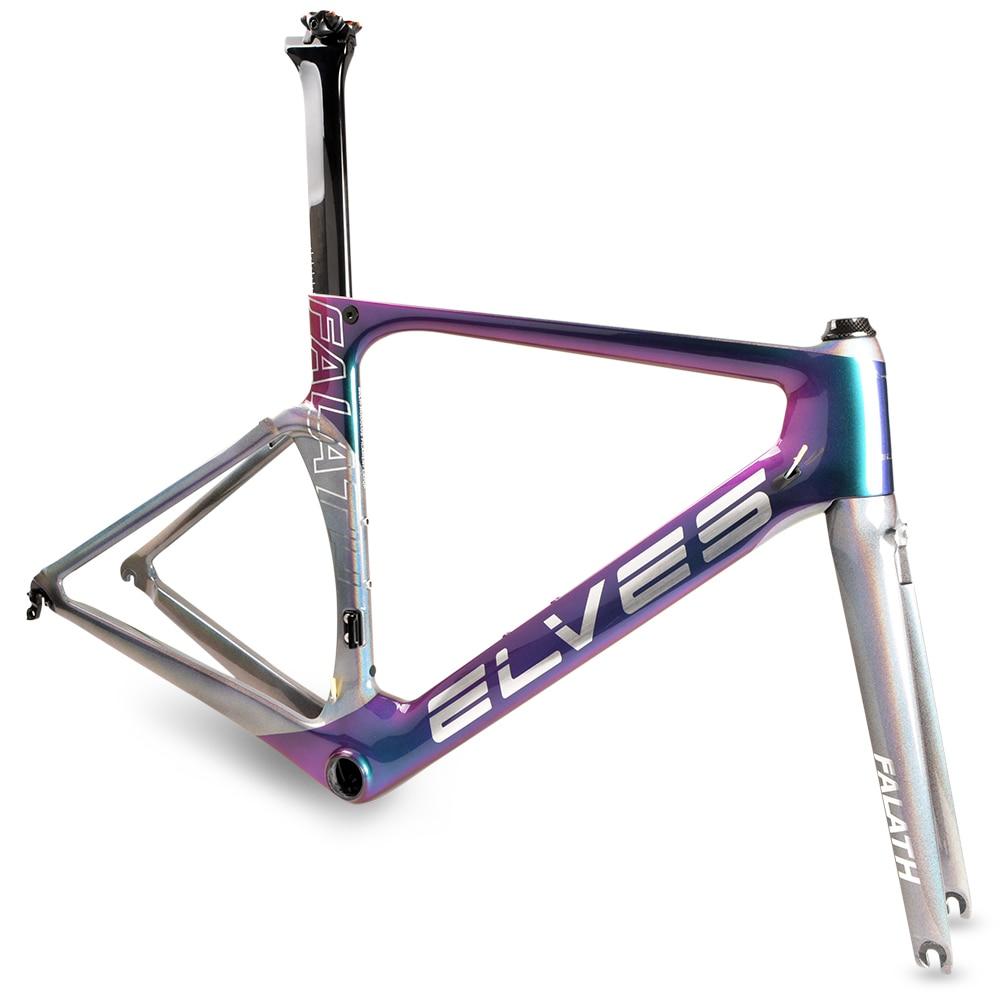 elves aerodynamics Bicycle Frame Light sensitive color Carbon Road font b Bike b font Frame Super