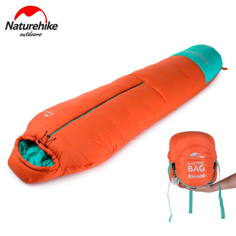 Naturehike Winter Adult Mummy Hiking Nylon Cotton Sleeping Bags For Outdoor Camping Accessories 3 Season 210*80CM NH17S013-D naturehike mummy sleeping bag ultralight camping outdoor 3 season cotton winter adult sleeping bags for tourists 1750g 210 80cm