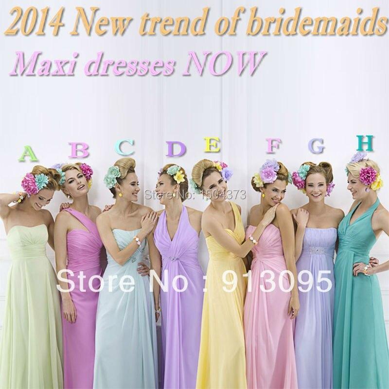 Mix color bridesmaid dresses
