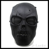 Halloween Party Cosplay Full face Paintball mask Airsoft Mask CS Games for paintball accessories&equipment three colors in stock