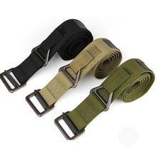 купить Men Army Tactical Belt Military Outdoor Sport Training Nylon Belts Men Waist Nylon Strap With Metal Buckle Belt дешево
