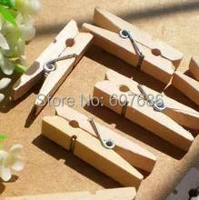 1000 Piece Mini Wooden Clothespins Clothes Pins 3.5*0.7cm Natural Wood Spring Clip Pegs For Photo Paper Craft Toys Free Shipping