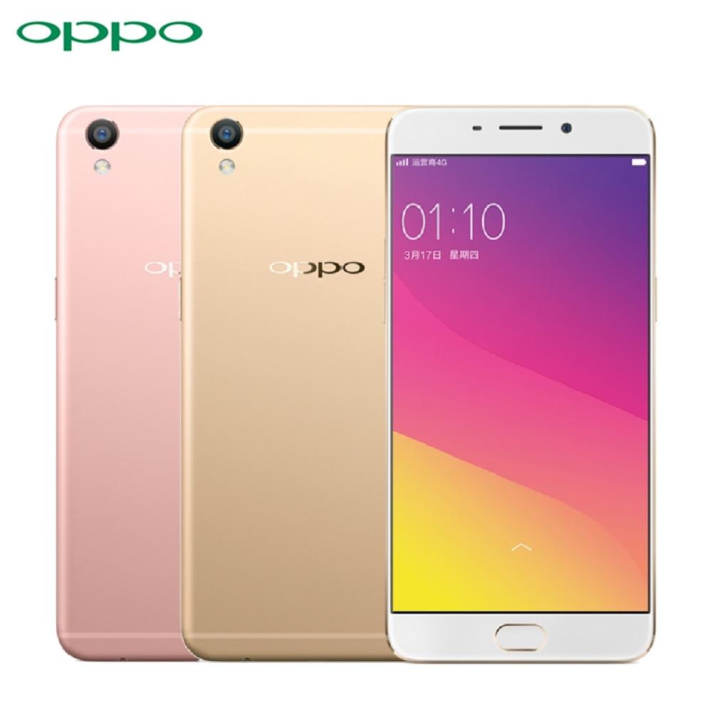 "Original OPPO R9 Cell Phone MT6755 Octa Core RAM 4GB ROM 64GB 5.5"" Screen 13.0mp Camera 2850mAh 4G LTE Fingerprint Smartphone"