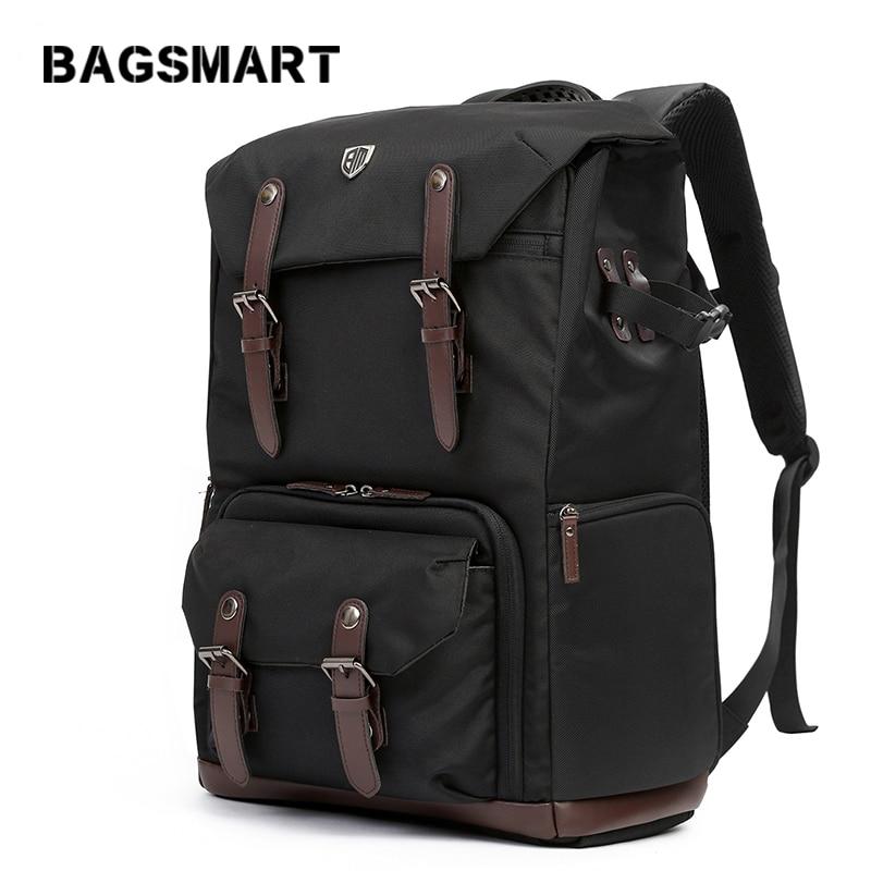 BAGSMART fényképezőgép hátizsák DSLR vízálló fényképezőgép hátizsákja esőfedél hátizsák laptop kamerával objektív utazási kamera táskák