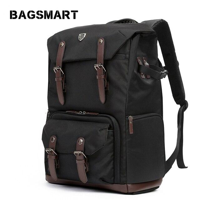 BAGSMART Camera Backpack for DSLR Waterproof Camera Backpack with Rain Cover Backpack for Laptop Camera Lens Travel Camera Bags