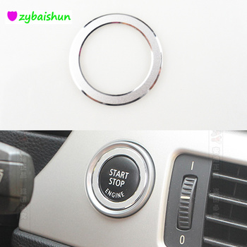 A Key start circle Trim Interior Ignition ring Trim Decals for BMW 3 series E90 318 320 325i 2009-12 Aluminum Alloy Car styling image
