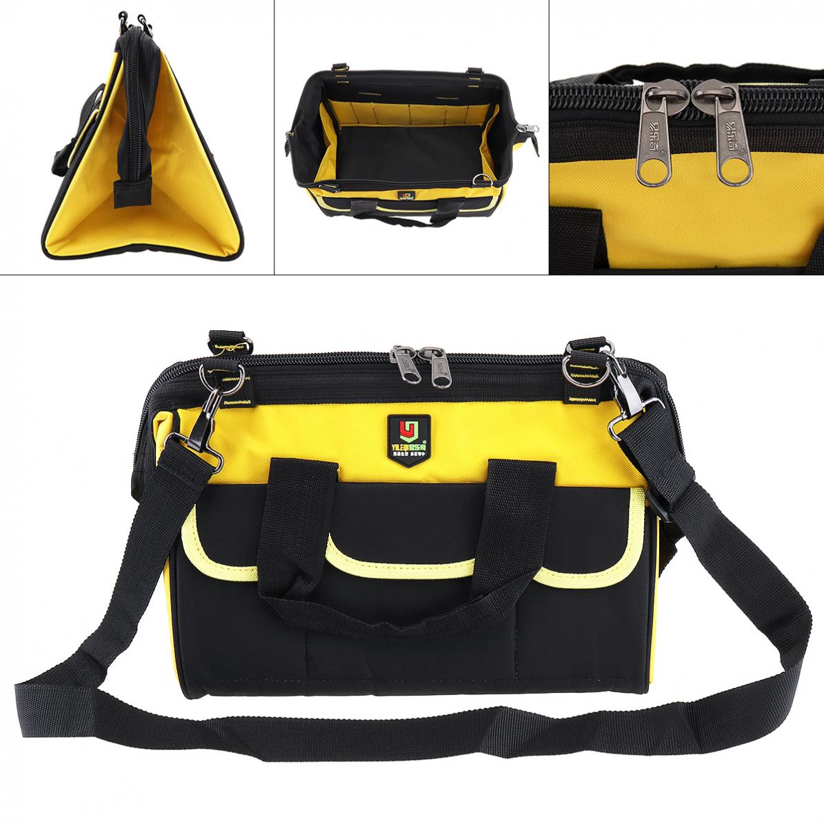 14 Inch Tool Bags Oxford Cloth Package Waterproof Hand Shoulder Dual-purpose Tool Bag With 18 Pockets For Maintenance Tools