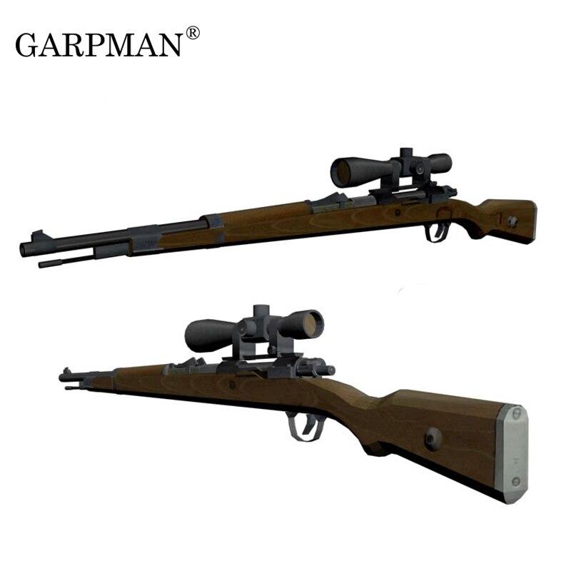1:1 deutschland Taktische 98 Karat Sniper 3D Modelle Manuell Dreidimensionale Papier Modell Spielzeug