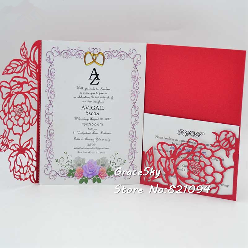 Floral Wedding Card Manufacturer From Hosur: Aliexpress.com : Buy 30pcs Free Shipping Flowers Pocket