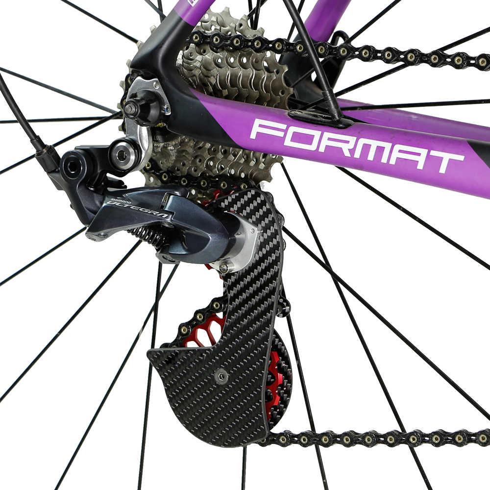 Roda traseira de desviador para bicicleta, desviador de fibra de carbono para bicicleta de 17t e shimano 9100/9150/r8000/r8050/8070/9170