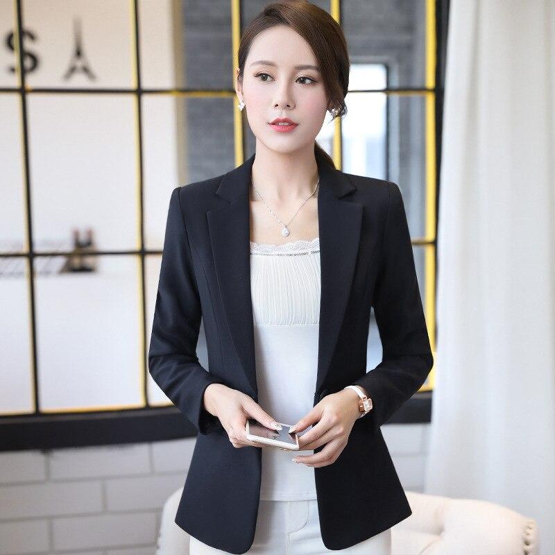 Blazer feminino 2019 fashion solid color slim business jacket Korean version of the office temperament suit jacket