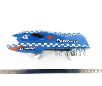 E22 KIT Tiger Teeth Catamaran Prepainted Electric RC Racing Boat Hull only for Advanced Player Blue TH02624 - DISCOUNT ITEM  0% OFF All Category